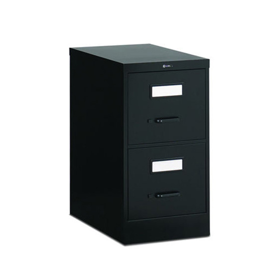2 Drawer Black Vertical File (Letter)